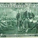 President Hanson is located on the back of the $2.00 Bill.  (John Hanson is located 5th person from the left, directly under the N in United)